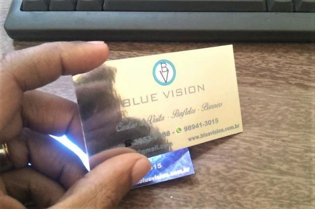 Cartão Papel Metal Premium Milheiro Valor Promocional Produto Muito Sofisticado - Foto 3