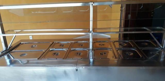 Buffet Térmico em estrutura em inox seminovo - Foto 5
