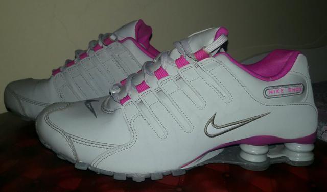 TENIS FEMININO NIKE SHOX NZ - 39 -cinza rosa - Roupas e calçados ... a04ce1abda76a