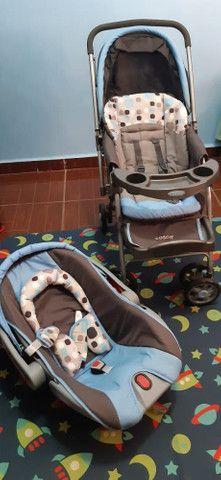Carrinho e bebê conforto  - Foto 3
