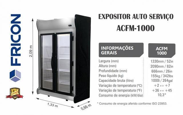 Geladeira Auto Service Frost Free 2 ou 3 ou 5 Portas Fricon