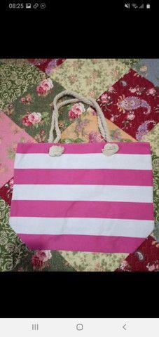 Vendo bolsas Praia com zíper forrada  - Foto 4