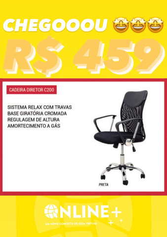 Cadeira de escritório entrego grátis Goiânia