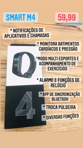 PROMOÇÃO RELÂMPAGO DE SMARTWATCHS M3 , M4 e M5 !!! - Foto 3