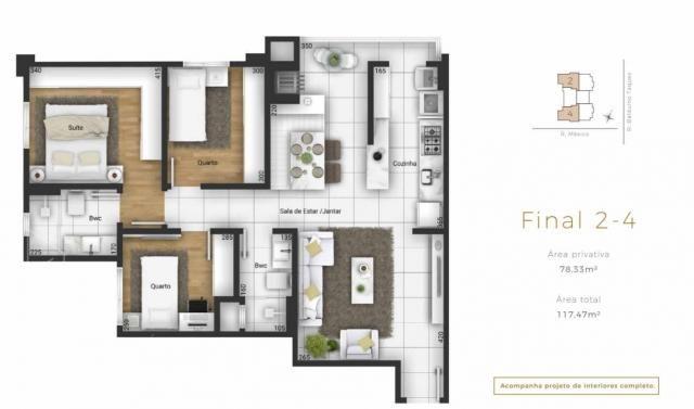 Apartamento para Venda em Ponta Grossa, Centro, 3 dormitórios, 1 suíte, 2 banheiros, 2 vag - Foto 18
