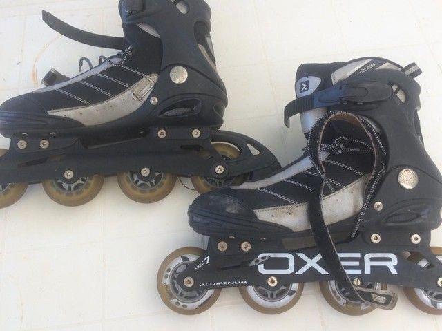NO PRECINHO!! Lindo par de patins da Oxer (42) - Foto 2