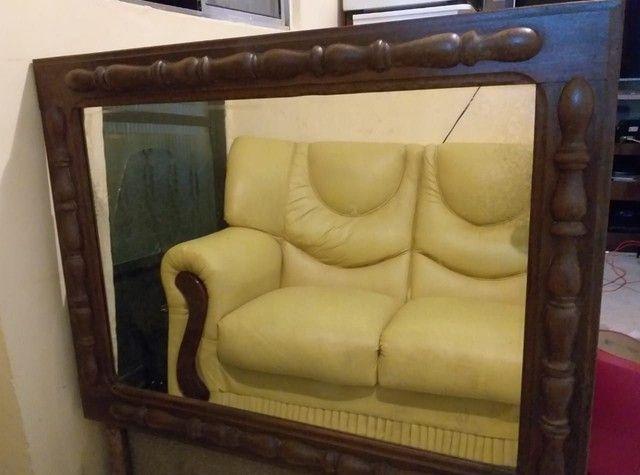 Espelho antigo lindo com moldura trabalhada - Foto 5