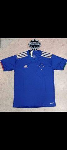 Camisa Cruzeiro I 21/22 s/n° Torcedor Adidas Masculina - Azul<br><br>