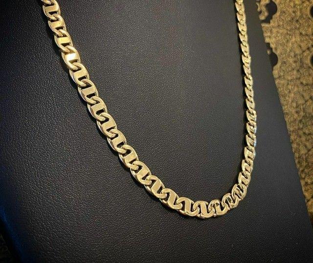 Cordões e correntinhas - piastrine ou cártier em ouro 18 quilates derretido. - Foto 2