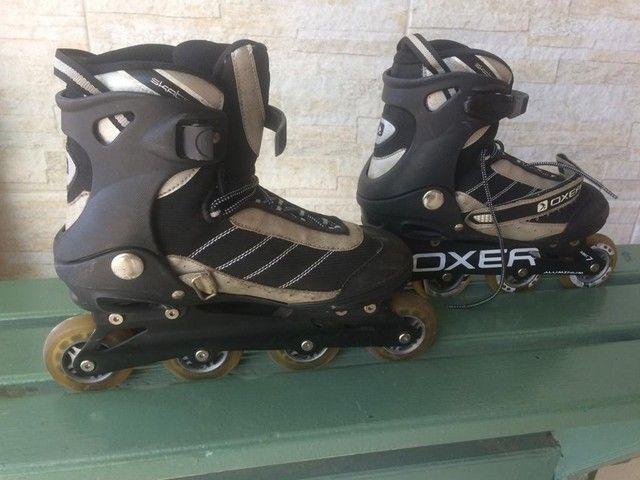 NO PRECINHO!! Lindo par de patins da Oxer (42) - Foto 4