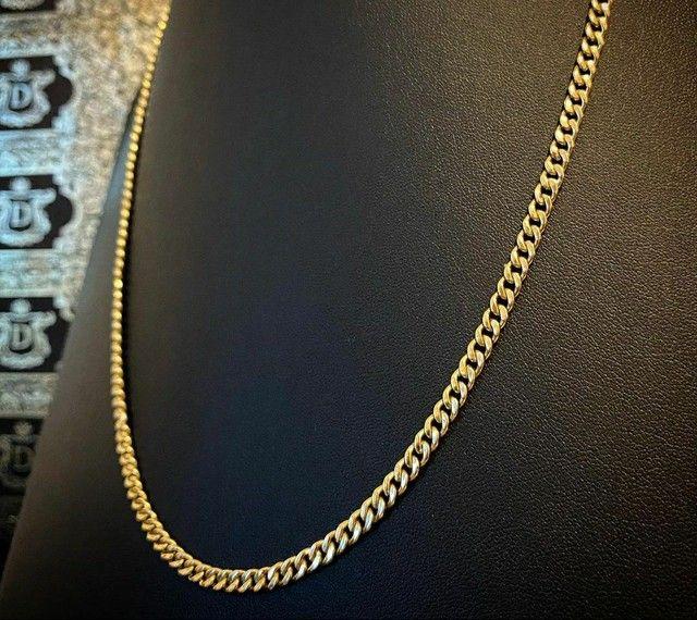 Cordões e correntinhas - piastrine ou cártier em ouro 18 quilates derretido. - Foto 5