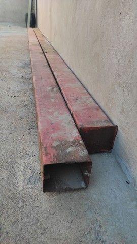Coluna de ferro 5mt perfil 6,5x20