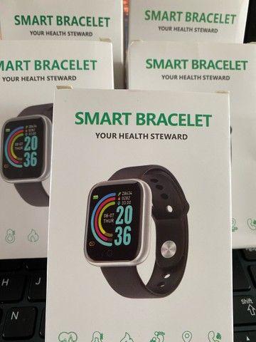 Smartwatch Y68 / D20   Bluetooth / Usb / Monitor Pulseira Relógio Inteligente - Foto 4