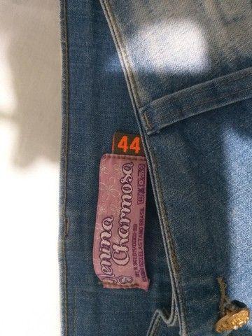 calça feminina jeans  44 novo - Foto 4