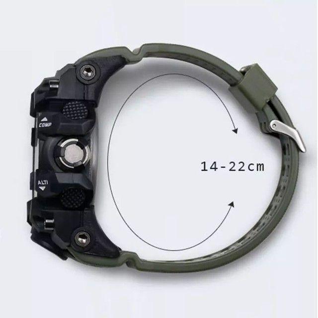 Relogio de pulso masculino esportivo militar a prova d'água - Foto 3