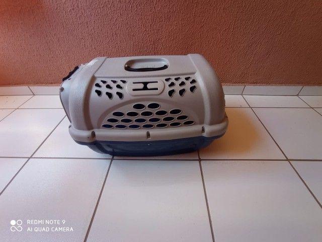 Caixa de Transporte tamanho 3 Panther Pop Plast Pet Azul para Cães e Gatos - Foto 4