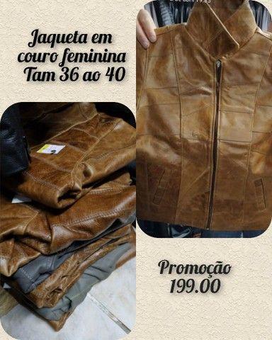 Jaquetas em couro legítimo fem - Foto 2