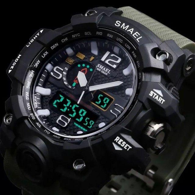 Relogio de pulso masculino esportivo militar a prova d'água - Foto 6
