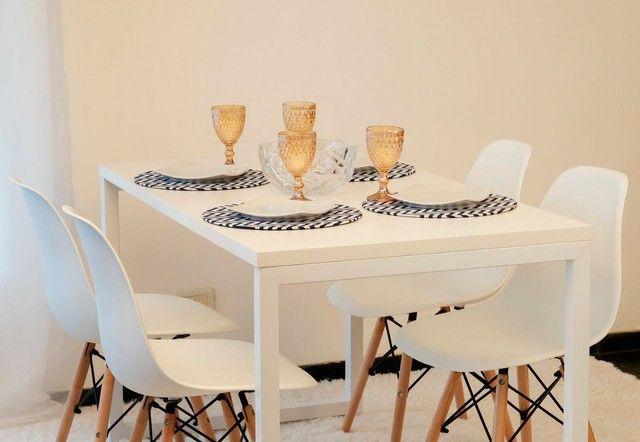 Conjunto de mesa 4 cadeira estilo industrial - Foto 2