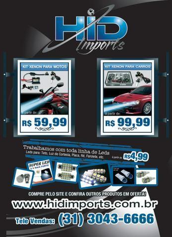 Kit xenon carro moto 6000k 8000k H1 H3 H4 H H8 H11 Hb3 Hb4 H27 hid imports Atacado Jacui - Foto 3