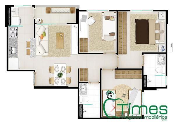 Apartamento  com 3 quartos - Bairro Setor Pedro Ludovico em Goiânia - Foto 13
