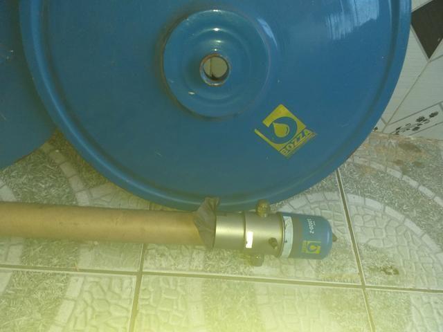 Bomba de graxa pneumática com a tampa do tonel - Foto 3