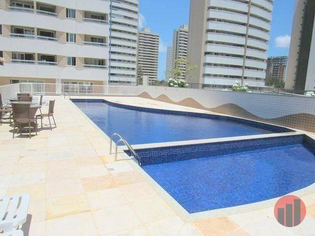 Apartamento todo mobiliado com 2 dormitórios para alugar, 57 m² por R$ 2.000/mês - Cidade  - Foto 3