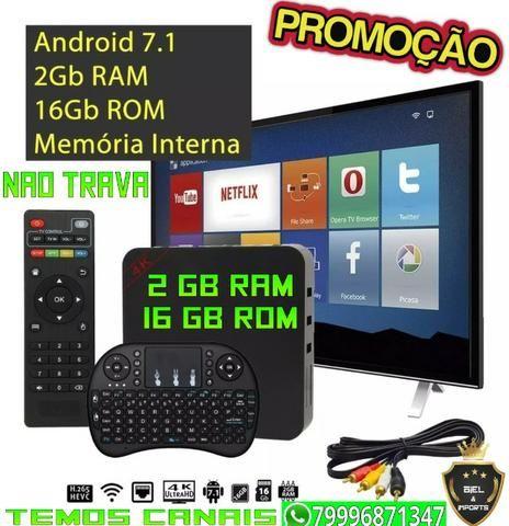 Midia Box mxq 4k 16 gb e 2gb Ram Android 7.1 (Promoção enquanto dura estoque)