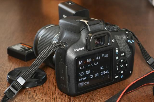 Câmera Fotográfica Canon EOS Rebel T5 seminova - Aceito cartão de crédito - Foto 3