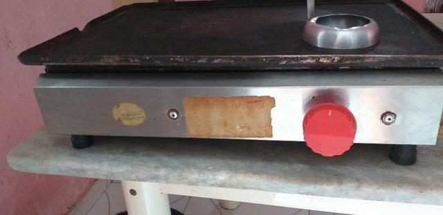 Chapa a gás.já vai com o registro pro botijao - Foto 2