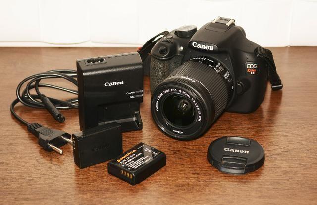 Câmera Fotográfica Canon EOS Rebel T5 seminova - Aceito cartão de crédito