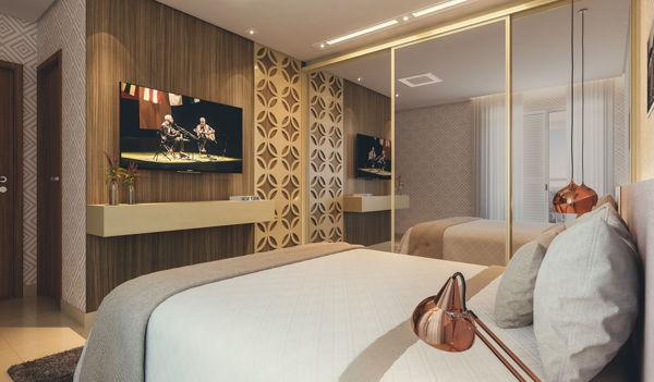 Apartamento  com 2 quartos no Varandas do Parque - Bairro Jardim Atlântico em Goiânia - Foto 3