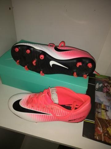 Chuteira Nike mercurial Rosa 36ff5e65e7da5