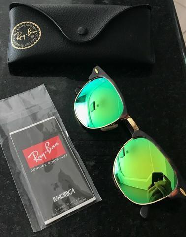 Oculos Ray-Ban RB3016 - Clubmaster Torutuga Verde espelhado (Original) eedd1e8c65