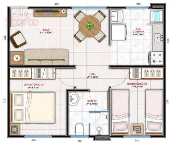 Apartamento com 2 dormitórios à venda, 43 m² a partir de R$ 125.000 - Shopping Park - Uber - Foto 6