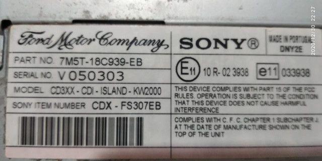 Rádio Original Ford - Sony Cdx-fs307eb - Foto 3