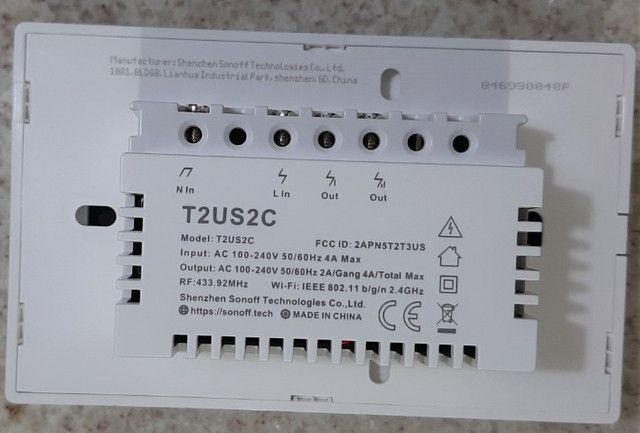 Interruptor inteligente, 2 teclas touch, elegância e beleza - Foto 5