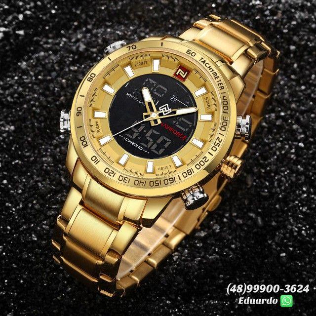 Relógios originais NaviForce Aço Inoxidável - 3atm!!