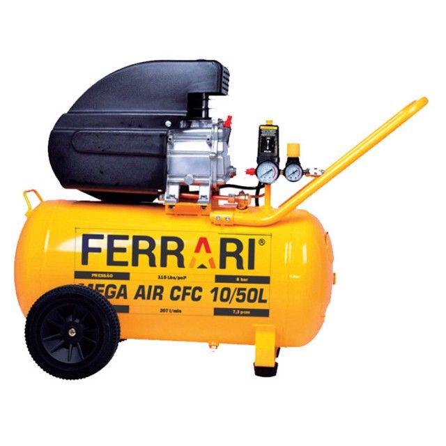 Compressor 10/50L 2Hp Mega Air CFC Ferrari