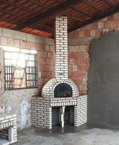 Churrasqueira forno e fogão a lenha de tijolinho aparente - Foto 5