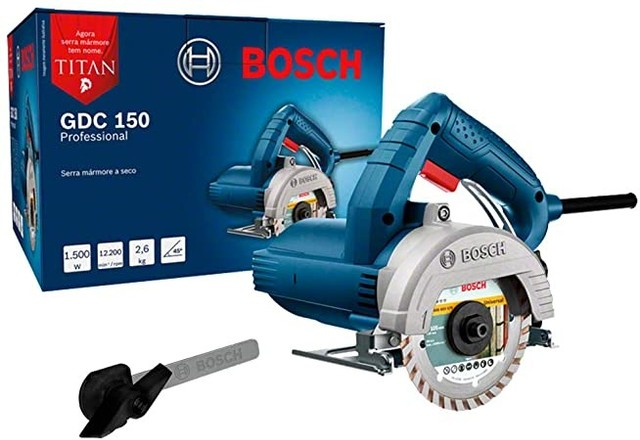 R$349,99 Serra Mármore a úmido Bosch GDC 150 Tintan 1500W
