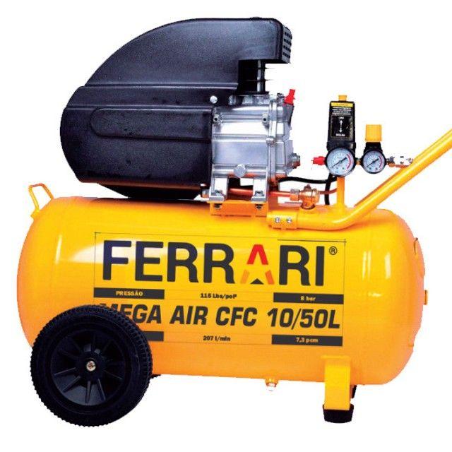 Compressor 10/50L 2Hp Mega Air CFC Ferrari - Foto 2