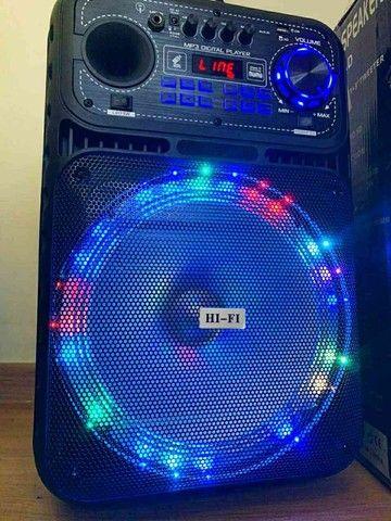 Caixa de som 5000w Bluetooth microfone e controle remoto  - Foto 6