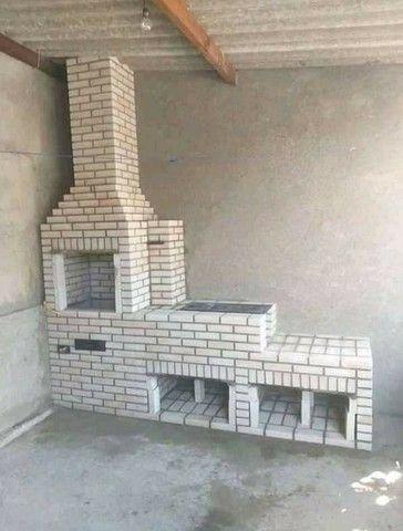 Churrasqueira forno e fogão a lenha de tijolinho aparente - Foto 2