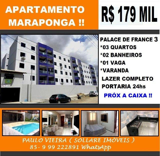 Á Venda, Apartamento 03 Quartos e Lazer Completo Próx a Caixa Econômica Maraponga