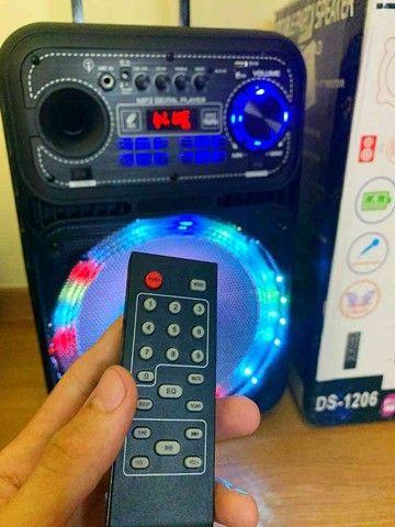 Caixa de som 5000w Bluetooth microfone e controle remoto  - Foto 5