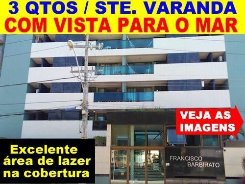 Cruz das Almas - 3 Quartos / Suíte / Varanda - Vista P o MAR