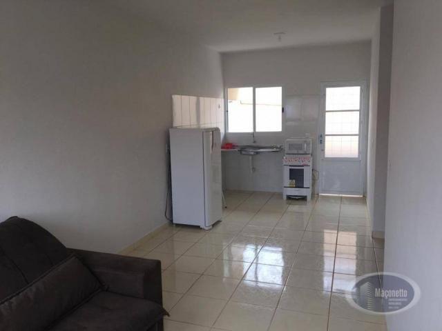 Casa com 2 dormitórios para alugar, 50 m² por r$ 650/mês - jardim maria imaculada i - brod - Foto 5