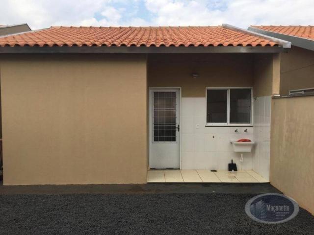 Casa com 2 dormitórios para alugar, 50 m² por r$ 650/mês - jardim maria imaculada i - brod - Foto 10
