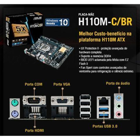 Kit Placa Mãe / Processador Intel G3900 2.80GHz - Foto 4